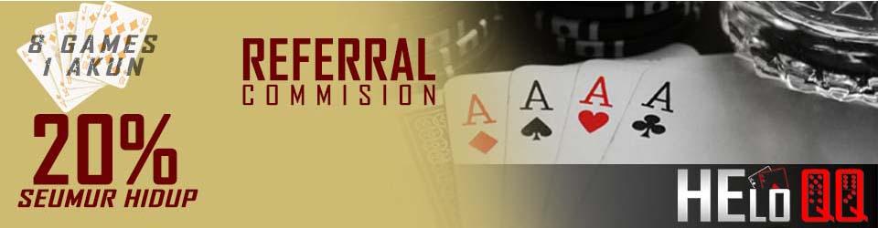 Bonus komisi referral judi online